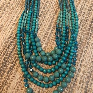 LONG Chico's turquoise Necklace